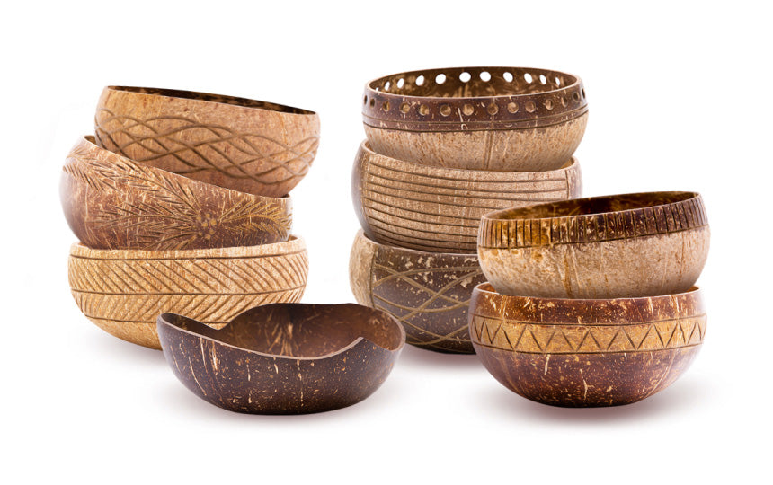 art coconut bowls