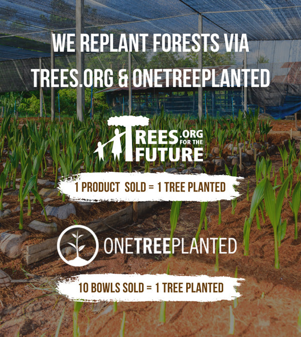 For Every 10 Bowls We Sell, We Will Plant a Tree via