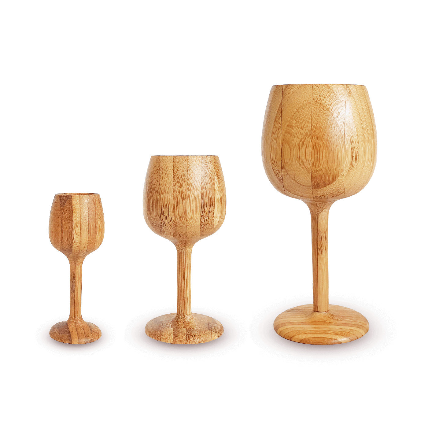 Bamboo Wine Glass Set