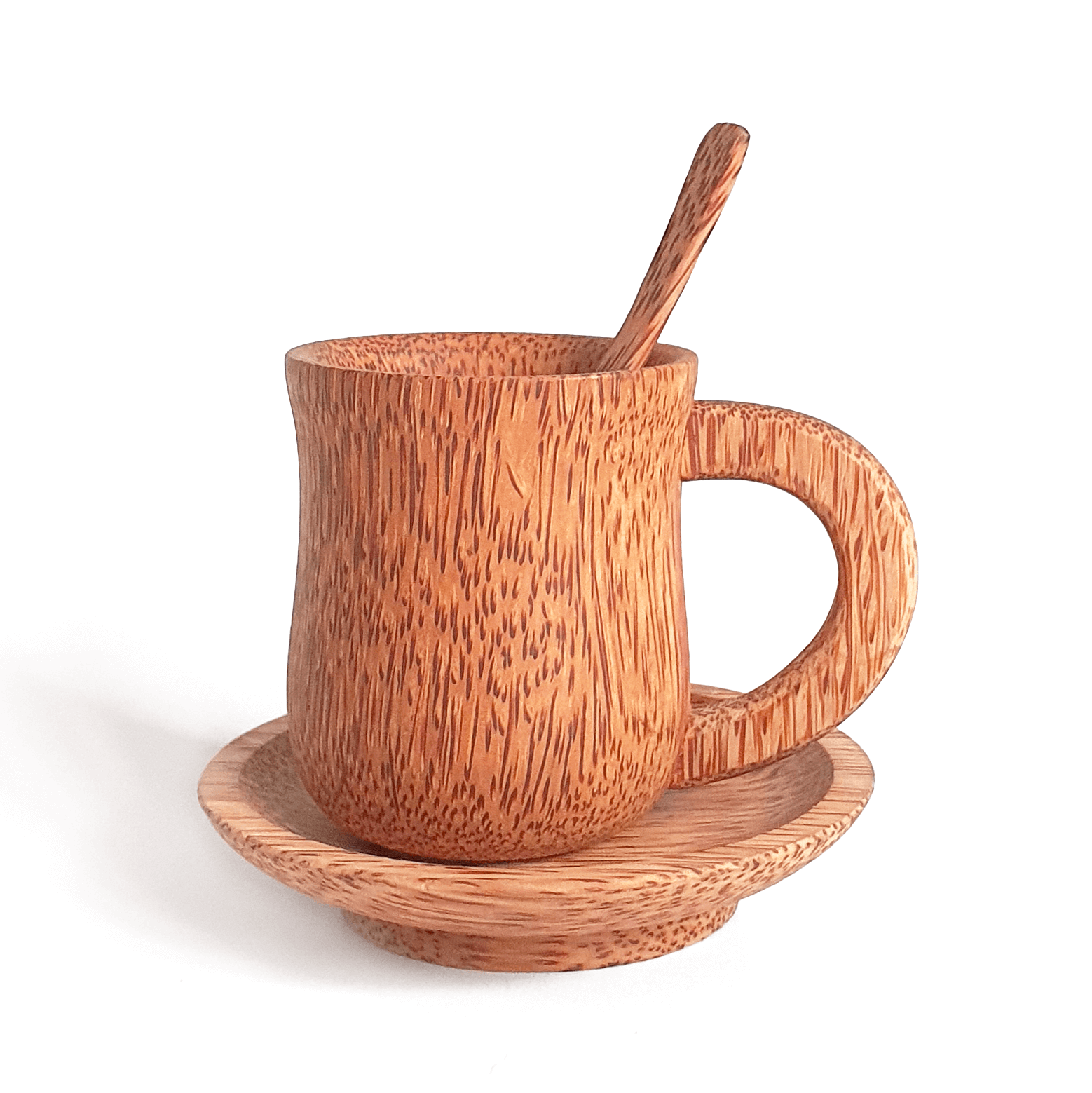 Coconut Wood Coffee Cup Set