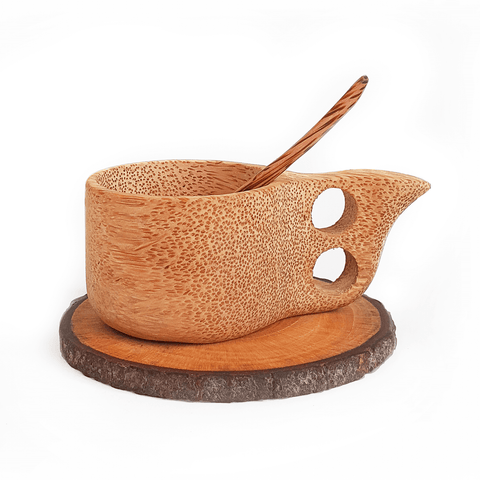 Coconut Wood Kuksa Teacup Set