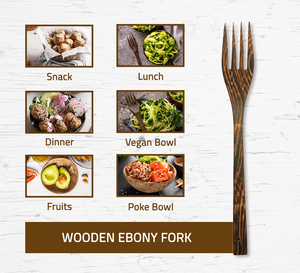 Ebony Wood Fork
