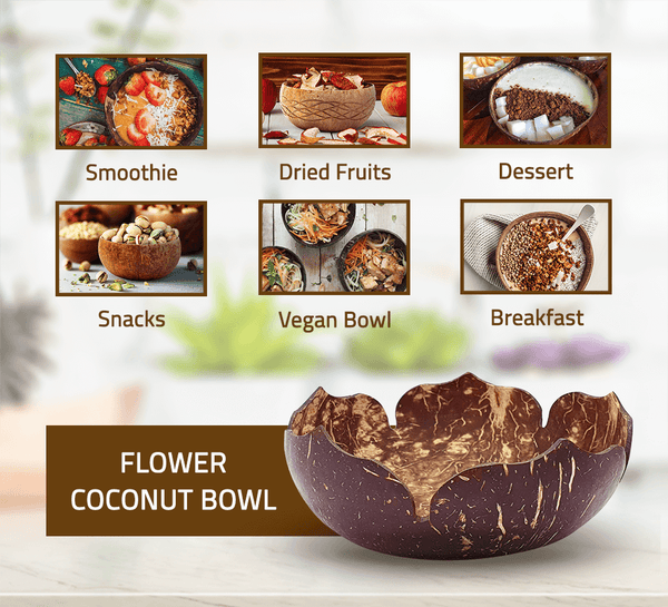 Flower Coconut Bowl