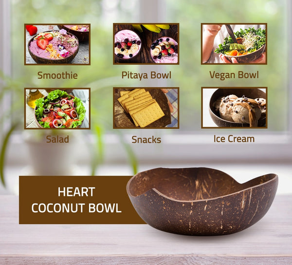 Heart Coconut Bowl