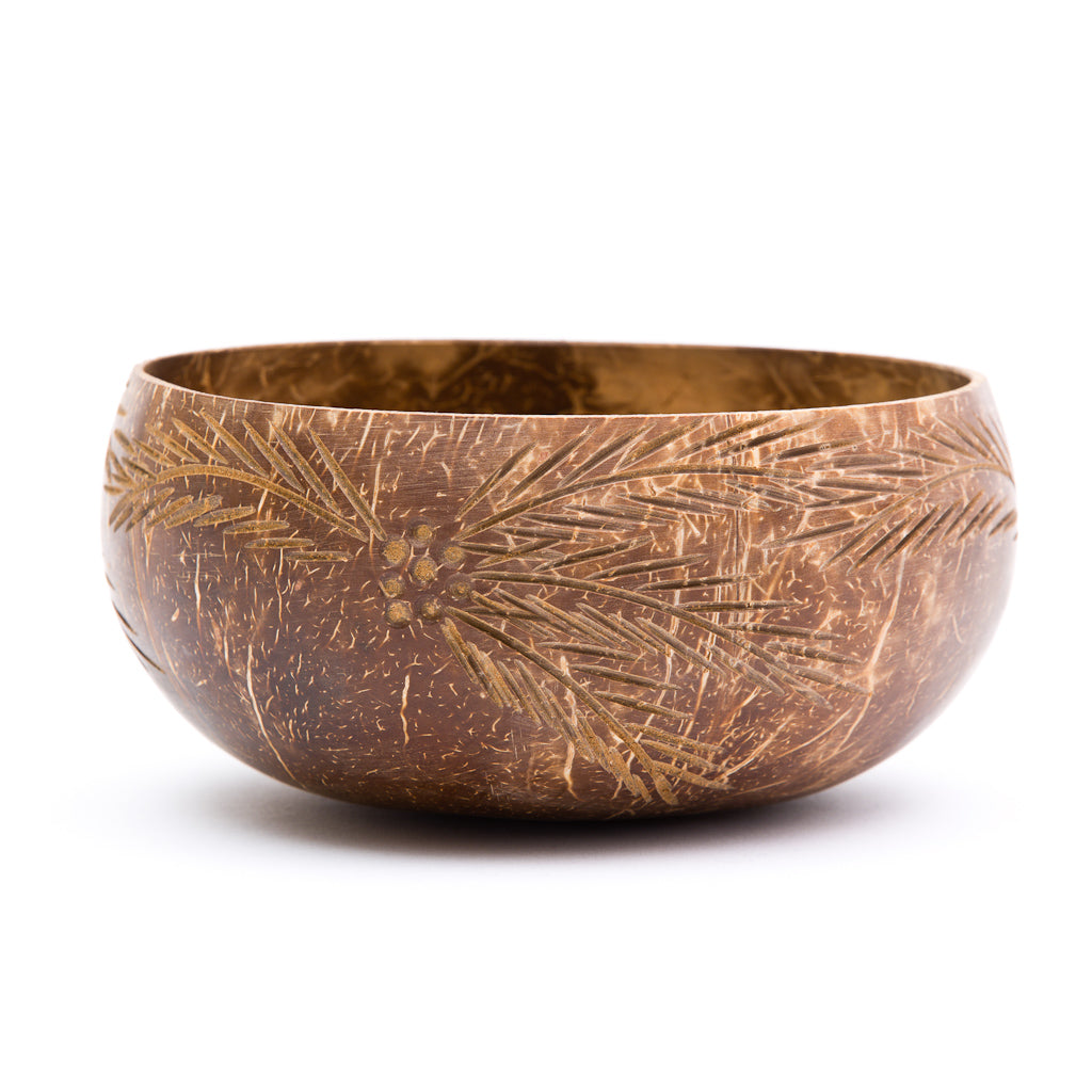 Palm Leaves Coconut Bowl | Rainforest Bowls