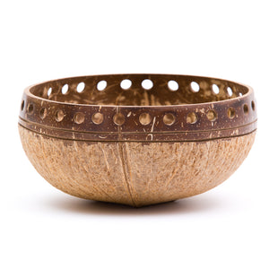 Two-Toned Punchout Coconut Bowl | Rainforest Bowls