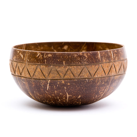 Zigzag Coconut Bowl | Rainforest Bowls