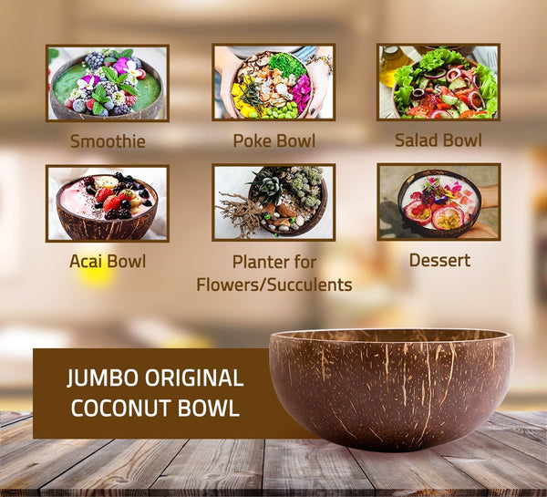 Jumbo Original Coconut Bowl (14-15 cm diameter)