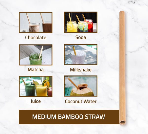 Medium Bamboo Straw