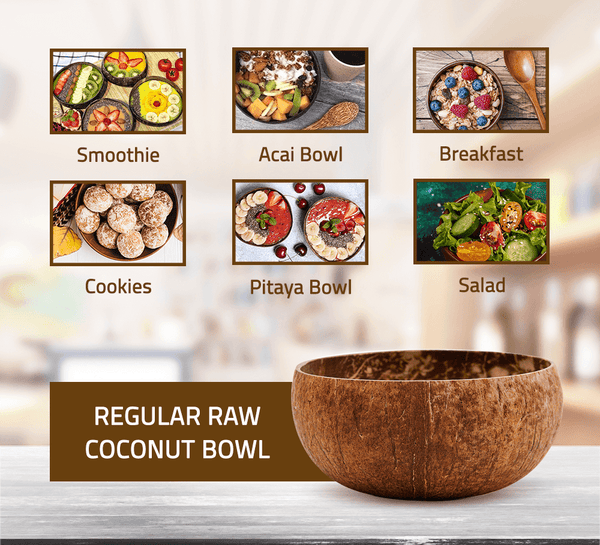 Regular Raw Coconut Bowl (12-13 cm diameter)