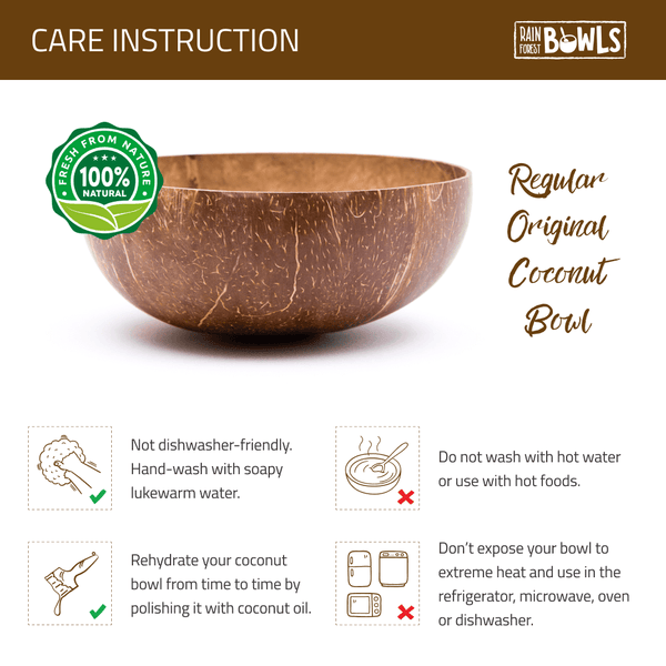 Regular Original Coconut Bowl (12-13 cm diameter)