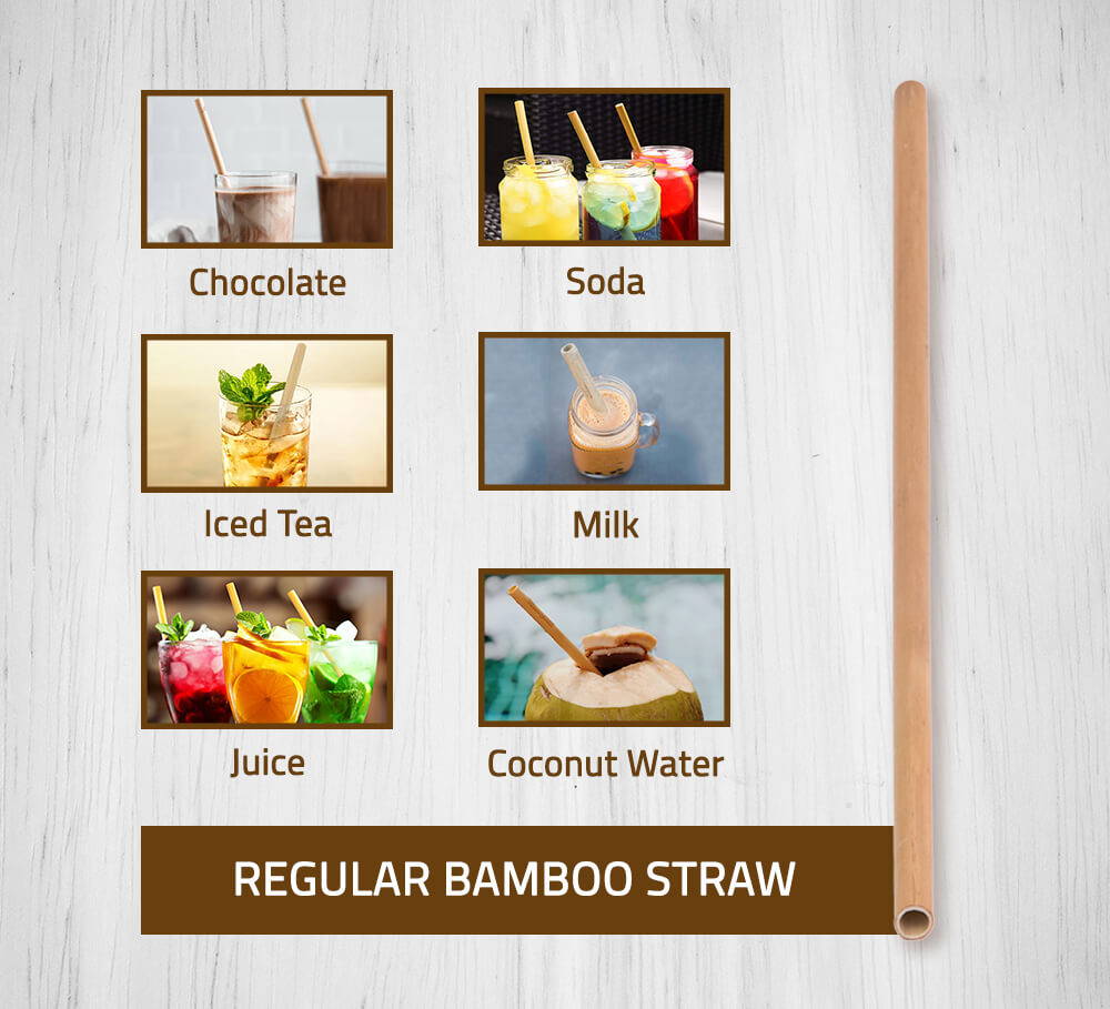 Regular Bamboo Straw