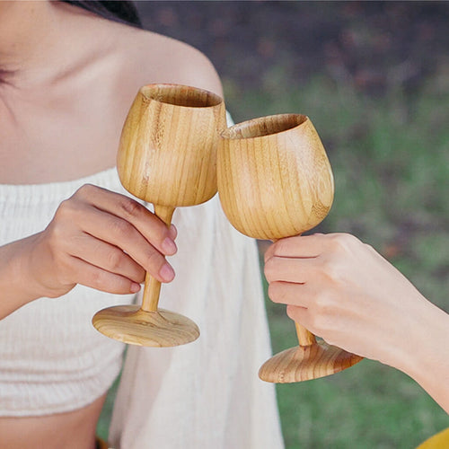 Tall Bamboo Wine Glass