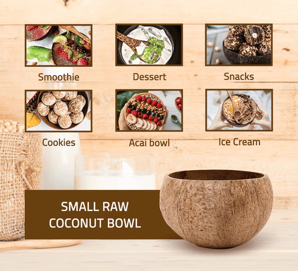 Small Raw Coconut Bowl (9-11 cm diameter)