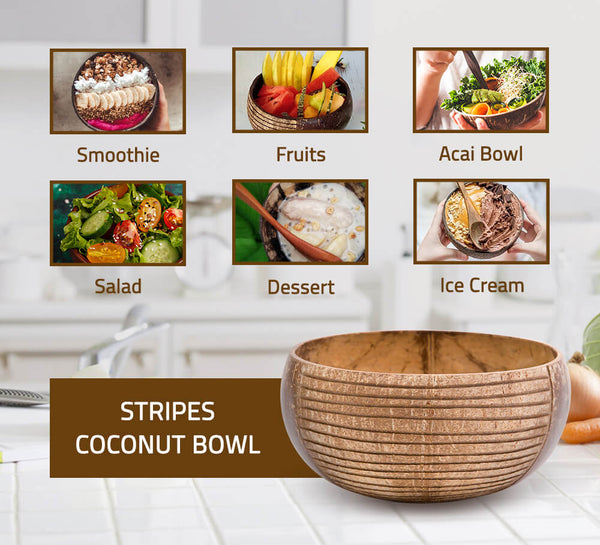 Stripes Coconut Bowl
