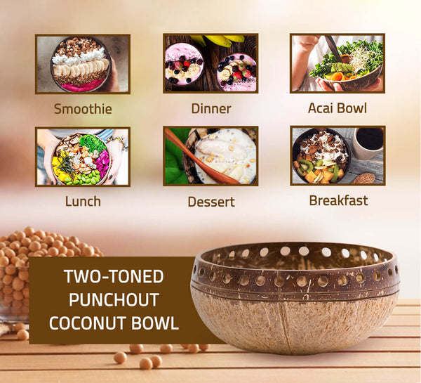 Two-Toned Punchout Coconut Bowl