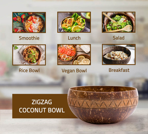 Zigzag Coconut Bowl