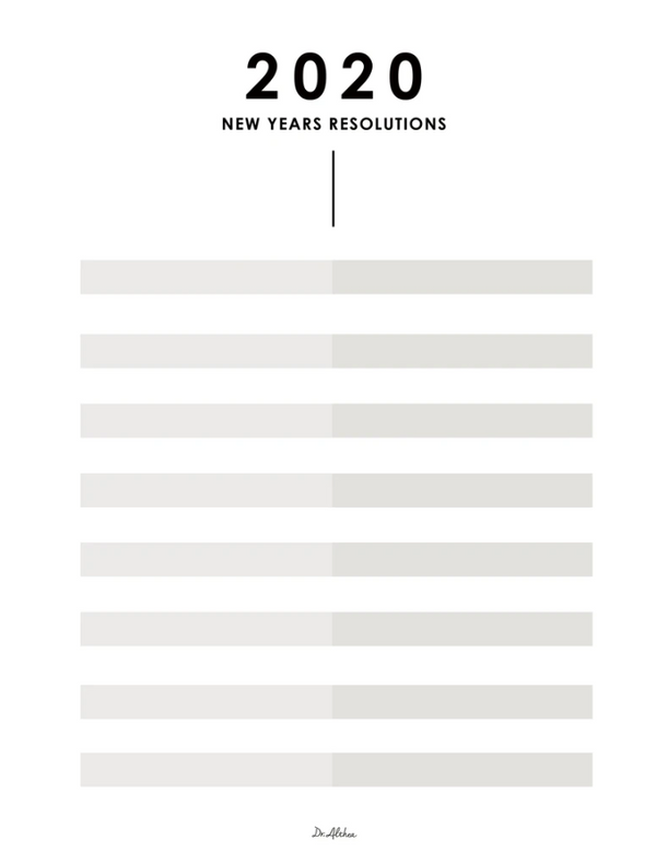 Free Printable: 2020 New Years Resolution Template