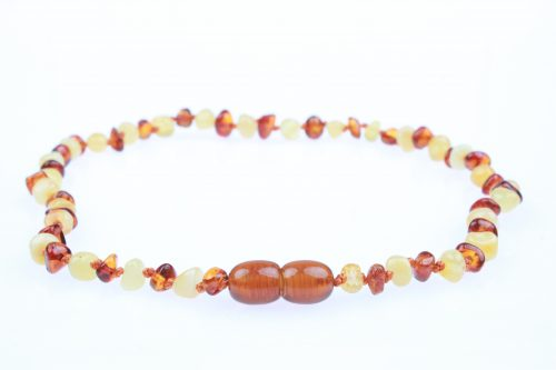 The Powell's Owls premium baroque genuine Baltic amber teething necklaces are independently tested by the Gemological Institute of America for purity & authenticity. Sold online at Simply Natural Baby Store™.