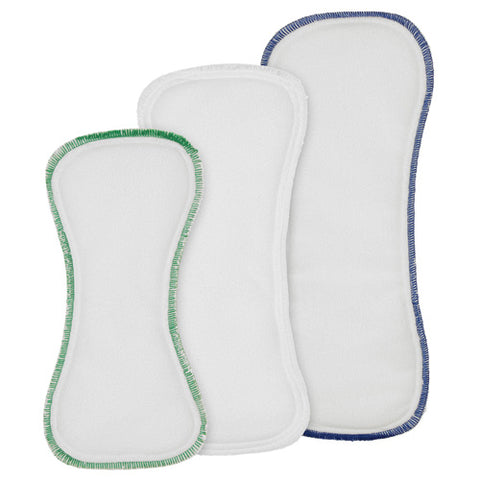 Stay Dry Bamboo Insert combines the natural absorbency of Bamboo with the super soft comfort of Stay Dry fleece. The insert consists of 6 layers of bamboo viscose, topped with 1 layer of no-pill fleece. Please wash and dry 4-5 times before use. Sold online at Simply Natural Baby Store™.
