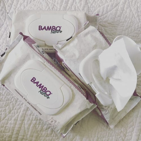 Bambo Nature Eco-Friendly Baby Wipes are free of perfumes, parabens, dyes and optical brighteners, hypoallergenic, chlorine-free. Sold online at The Eco Baby Co™.