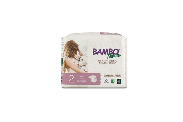 Bambo Nature Eco-Friendly disposable diapers are free of harmful chemicals and all known allergens. Featuring a three-layer design and super-absorbent core. Shop online at The Eco Baby Co™.