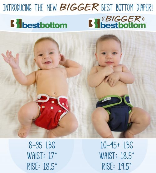 Bigger Best Bottom Cloth Diaper Shells
