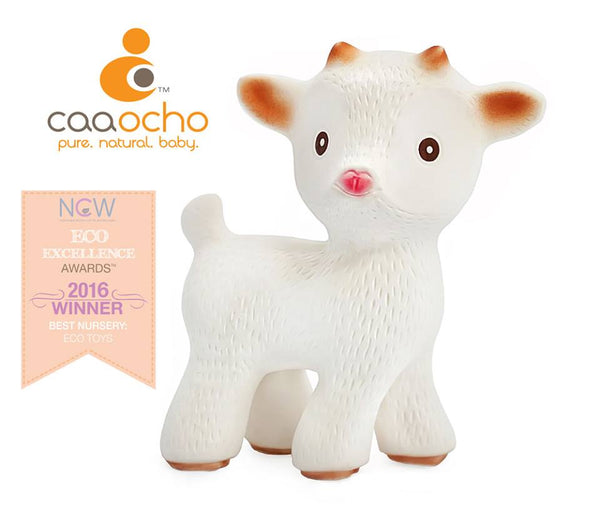 Sola the Goat is the WINNER of The Natural Child World (NCW) 2016 ECO-EXCELLENCE AWARDS as the best natural toy in the Nursery Category!!! Sold online at Simply Natural Baby Store™.