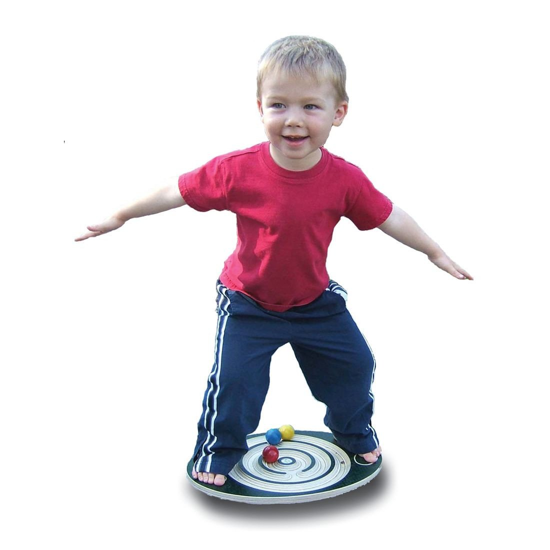 The labyrinth balance board Jr. is great for developing gross motor skills and neurological development in children. Made in the USA.