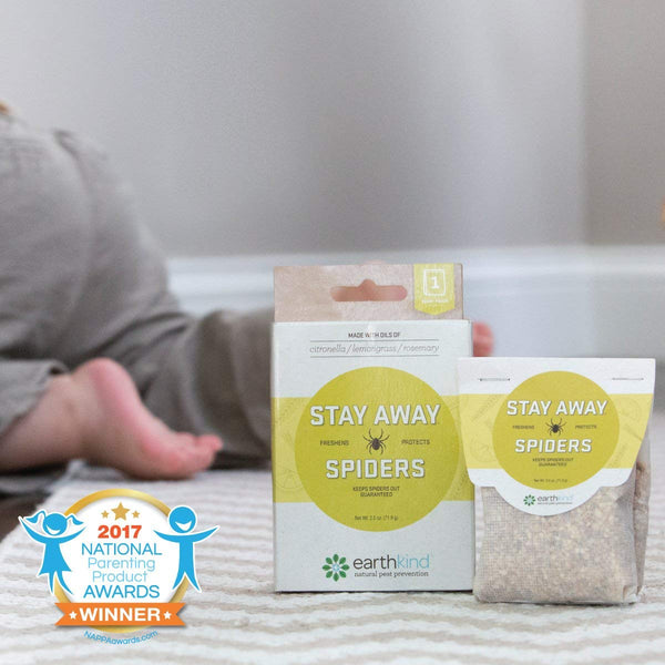Stay Away® Spiders pouches disrupt a spider's senses, keeping them out of treated areas. Made from essential oils & plant fibers. Safe for babies and pets.