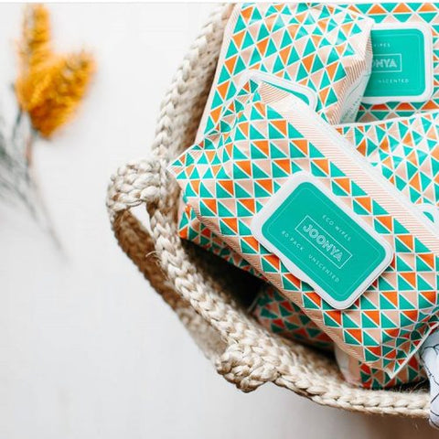 Joonya Eco Baby Wipes. Joonya is an Australian brand whose dream is to delight the community with convenient access to stylish, eco-friendly & safe baby products at a disruptive price. Sold in the USA online at The Eco Baby Co™.