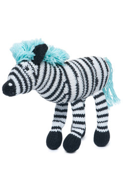The Finn + Emma Zebra Rattle Buddy is made from organic GOTs certified cotton and stuffed with sheep's wool. Eco-friendly inks and dyes and fair-trade. Sold online at The Eco Baby Co™.
