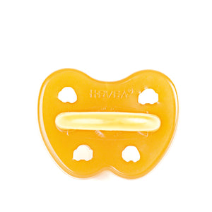 The Hevea Orthodontic Natural Rubber Pacifier Car & UFO Design contains No PVC, BPA, phthalates, artificial colors, and features ventilation holes. Shop our full line of Hevea natural rubber products online at The Eco Baby Co™.