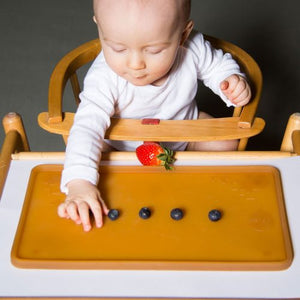 The Hevea Natural Rubber Placemat features, 100% pure natural rubber, Free from BPA, phthalates, PVC, and colouring. High edges and suction cups. Sold online at The Eco Baby Co™.