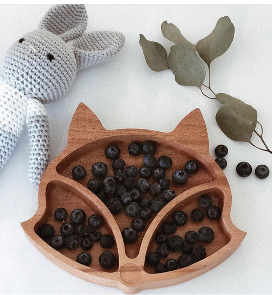 Children's Wooden Fox Plate