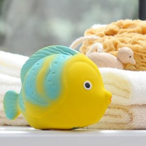 caaocho® La the Butterflyfish natural rubber bath toy is certified BPA, PVC, Phthalate and Nitrosamine free, painted with food-grade paints.