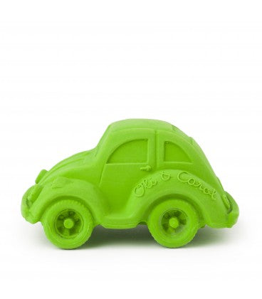 The Oli & Carol Carlito Beetle Car is biodegradable, eco-friendly, BPA, PVC, Phthalate, and Nitrosamines free. Have NO valves for mold free play. Find our Carlito beetle car and the XL version, in 6 naturally dyed colors, making them the perfect baby toy. Sold online in the USA at The Eco Baby Co™, a zero waste and plastic-free baby store.