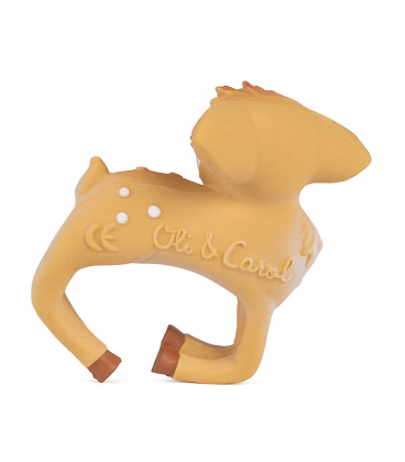 Our friendly Olive The Deer is now a chewable bracelet thought of for sensory play and teething. Take your dear friend with you always, wherever your adventures take you. Our hand painted Olive the Deer will be your baby's perfect chewelry. Completely safe for kids, worry-free play! The Oli & Carol Olive the Deer Bracelet is biodegradable, eco-friendly, BPA, PVC, Phthalate, and Nitrosamines free. Have NO valves for mold free play. Sold online in the USA at The Eco Baby Co™, a zero waste and plastic-free...