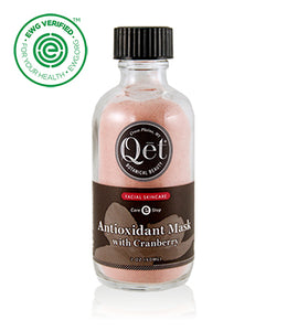 Qēt Botanicals® Antioxidant Mask with Cranberry.It's nature's way of fighting free radicals in a mask. Brighten and feed the complexion. Rich in Vitamins. Sold at Simply Natural Baby Store™