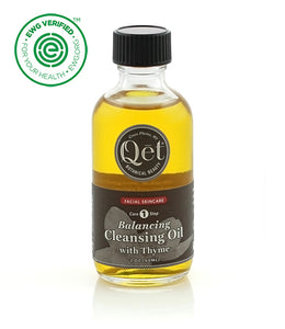 Qēt Botanicals® Balancing Cleansing Oil with Thyme Earth Day Beauty Award Winner ~ Best Cleansing Oil This cleansing oil was selected as the 2014 Earth Day Beauty Award Winner in the acne zapping category! This cleansing oil is wonderful on skin which tends to be combination, active, prone to blemishes, or stressed with rashes and uneven coloration. Sold at Simply Natural Baby Store™.