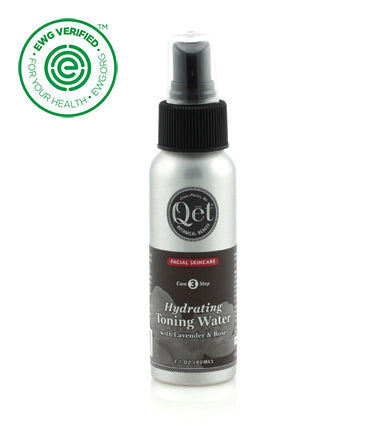 Qēt Botanicals® | Hydrating Toning Water with Lavender & Rose You can use it alone to freshen throughout the day on your face and body. It's all organic! Sold at Simply Natural Baby Store™.