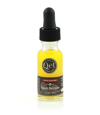 Qēt Botanicals® Spot Serum. We've blended ancient, effective ingredients in a modern formula to treat the symptoms and also the causes of irritated skin. Sold at Simply Natural Baby Store™.