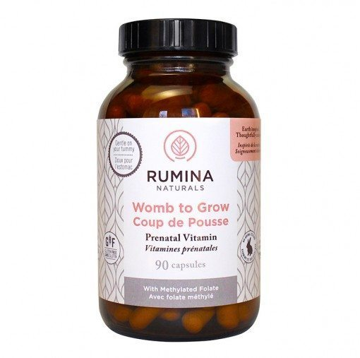 Rumina Naturals Prenatal Vitamin is formulated for pregnant and lactating women made with the highest quality gluten-free & non-GMO ingredients. Made in Canada and sold online in the USA at The Eco Baby Co™.