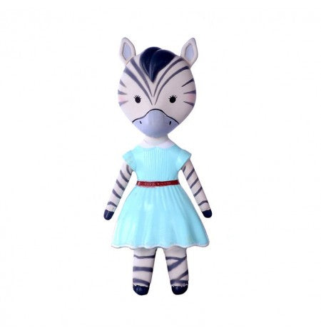 The VaniMeli Natural Rubber Zebra Toy AstoLuina is a stylish teether. Free of PVC, BPA, phthalates, & nitrosamines. Painted with non-toxic lead-free paint. Available in the USA at The Eco Baby Co™.
