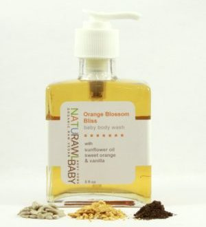 NATURAWL BABY | Organic Vegan Orange Blossom Bliss Baby Body Wash Hand-crafted & hand- poured, made with 100% pure therapeutic grade essential oils. Sold at Simply Natural Baby Store™.