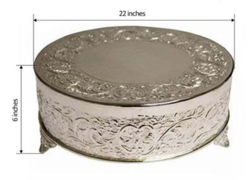 Modern Cake Stand - Cake Stand Rentals - Cake Stand Silver