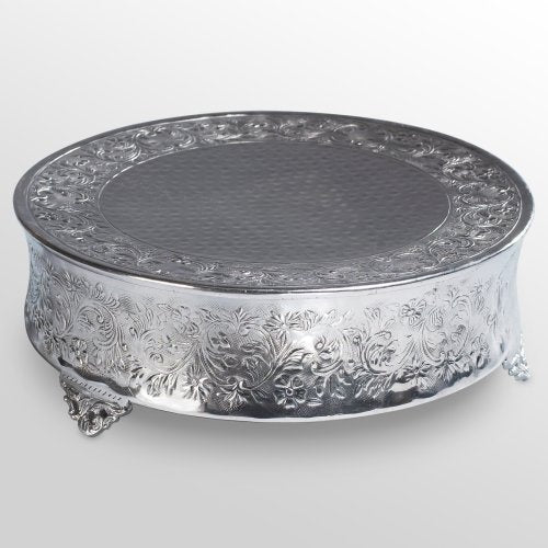 Beautiful Wedding Cake Stand in Silver - Rentals Near Me