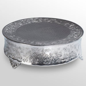 Cake Stand Silver Embossed Classic Design for Wedding Rentals