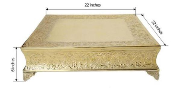Gold Cake Stand Rentals - Wedding Cake Stands Near Me