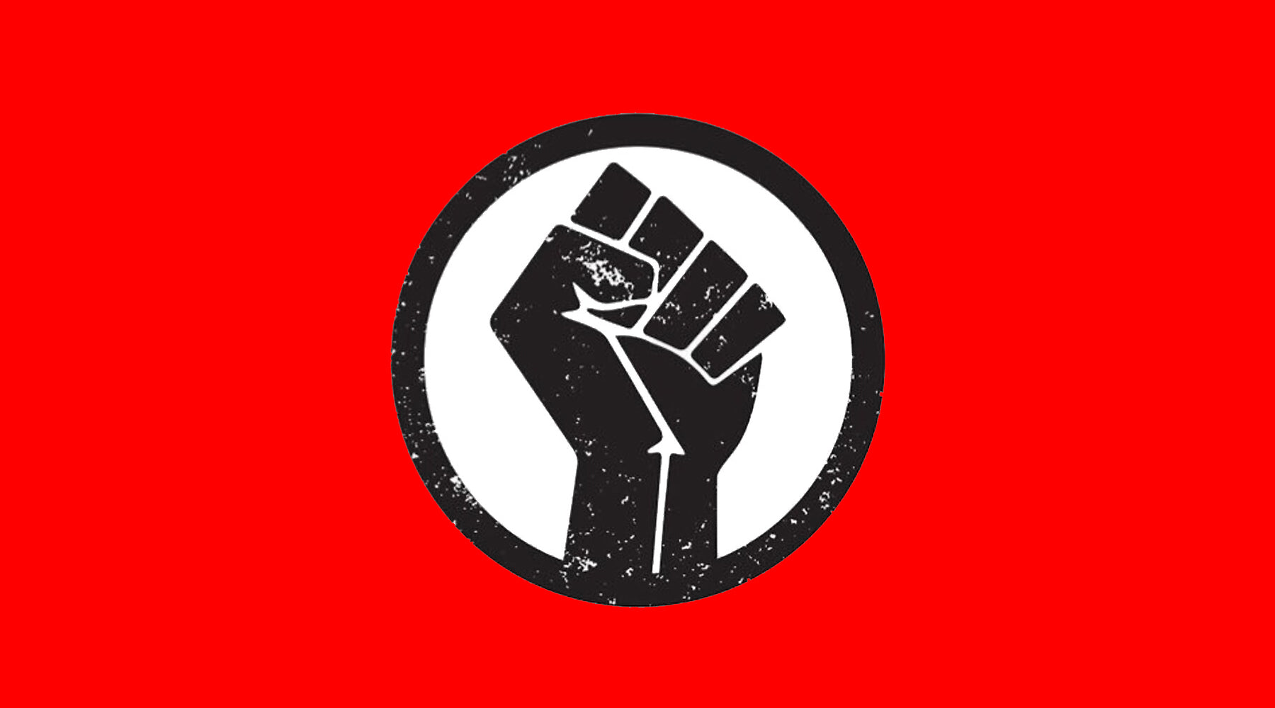 Black Lives Matter fist on red background | Nikki Darling Australia